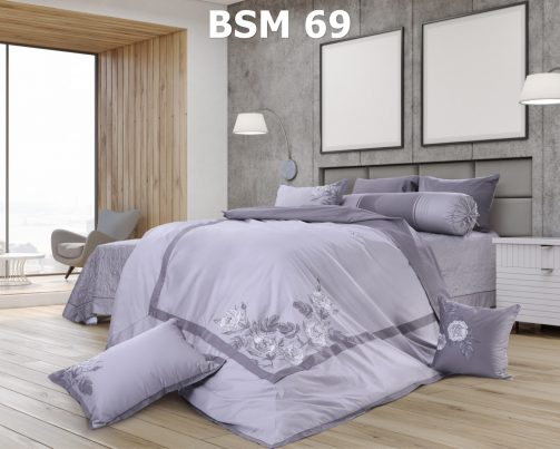 Bộ chăn ga gối Bsm 69 Blue Sky Hanvico
